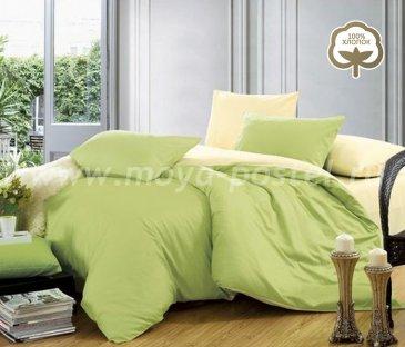 Постельное белье 1014-JT27 Сатин однотонный евро 2 наволочки в интернет-магазине Моя постель