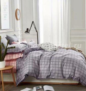 Twill евро 4 наволочки TPIG6-591 (персиково-серый в клетку) в интернет-магазине Моя постель