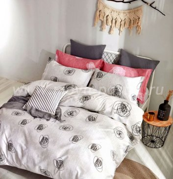 Постельное белье TPIG6-555 Twill евро 4 наволочки в интернет-магазине Моя постель