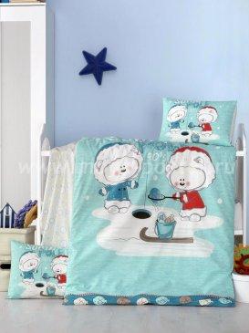 КПБ Victoria baby Ясли Ранфорс South Polee в интернет-магазине Моя постель