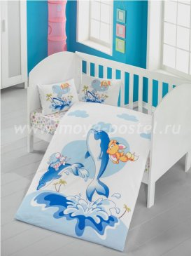 КПБ Victoria baby Ясли Ранфорс Ocean в интернет-магазине Моя постель