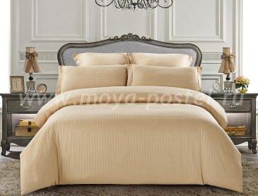 КПБ Tango Color Stripe Страйп-сатин 1,5-спальный, беж в интернет-магазине Моя постель