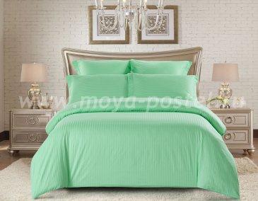 КПБ Tango Color Stripe Страйп-сатин Евро, зеленый в интернет-магазине Моя постель