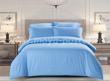 КПБ Tango Color Stripe Страйп-сатин Евро, голубой в интернет-магазине Моя постель