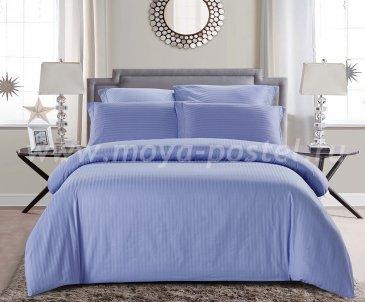 КПБ Tango Color Stripe Страйп-сатин Евро, сиреневый в интернет-магазине Моя постель