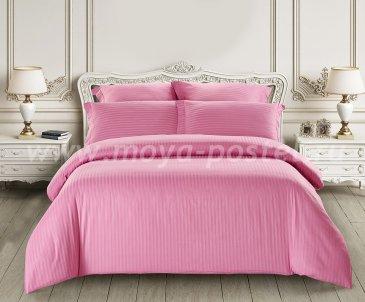 КПБ Tango Color Stripe Страйп-сатин Евро, ярко-розовый в интернет-магазине Моя постель