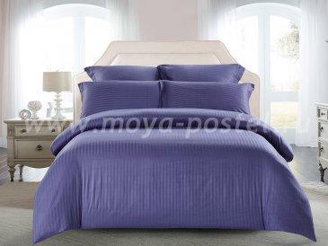 КПБ Tango Color Stripe Страйп-сатин Евро, фиолетовый в интернет-магазине Моя постель