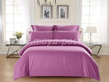 КПБ Tango Color Stripe Страйп-сатин Евро, фуксия в интернет-магазине Моя постель