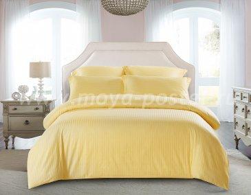 КПБ Tango Color Stripe Страйп-сатин семейный, желтый в интернет-магазине Моя постель