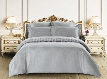 КПБ Tango Color Stripe Страйп-сатин семейный, светло-серый в интернет-магазине Моя постель
