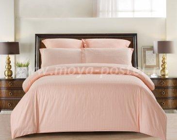 КПБ Tango Color Stripe Страйп-сатин семейный, розовый в интернет-магазине Моя постель