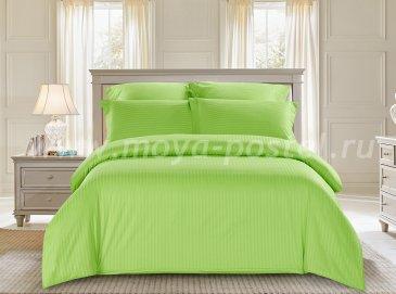 КПБ Tango Color Stripe Страйп-сатин семейный, салатовый в интернет-магазине Моя постель