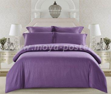 КПБ Tango Color Stripe Страйп-сатин семейный, слива в интернет-магазине Моя постель