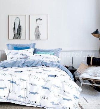 Кпб сатин 2 спальный 70*70 (таксы) в интернет-магазине Моя постель