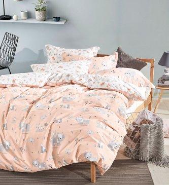 Кпб сатин 1,5 спальный (медведь и заяц) в интернет-магазине Моя постель