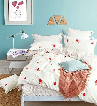 Постельное белье евро стандарта TS03-X58 сатин 2 наволочки в интернет-магазине Моя постель