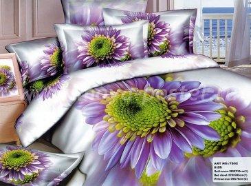 Полуторное постельное белье сатин (фиолетовая гербера) в интернет-магазине Моя постель