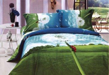Постельное белье евро стандарта сатин 2 наволочки (одуванчик) в интернет-магазине Моя постель