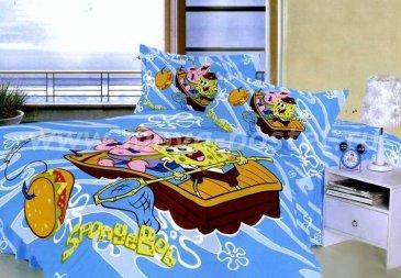 Детское полуторное постельное белье (Губка Боб и Патрик) в интернет-магазине Моя постель