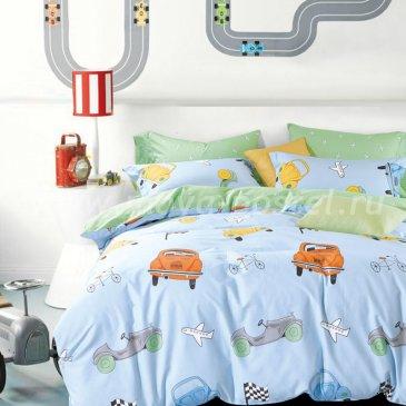 Кпб сатин 1,5 спальный (машинки) в интернет-магазине Моя постель