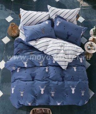 Twill евро 4 наволочки (синий новогодний) в интернет-магазине Моя постель