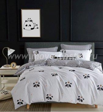 Постельное белье Twill TPIG6-758 евро 4 наволочки (панды) в интернет-магазине Моя постель