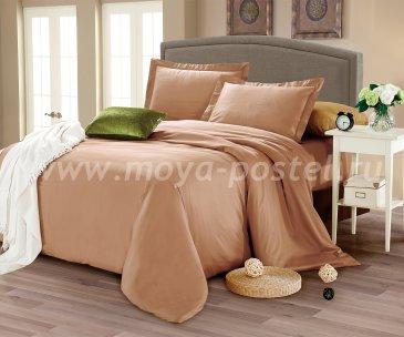 КПБ CIS07-24 Египетский хлопок однотонный коричневый в интернет-магазине Моя постель