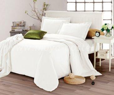 КПБ CIS07-28  Египетский хлопок однотонный белый в интернет-магазине Моя постель