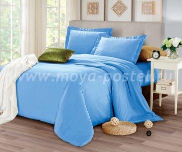 КПБ CIS07-31 Египетский хлопок однотонный голубой в интернет-магазине Моя постель