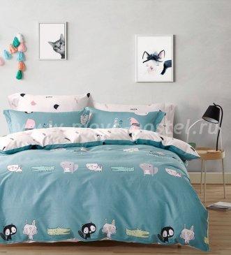 Двуспальное постельное белье X52 сатин 70*70 (грызунчики) в интернет-магазине Моя постель