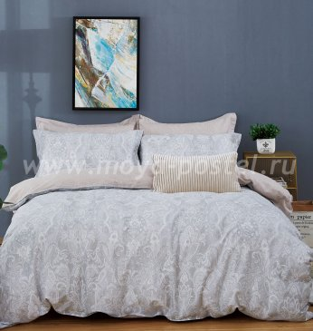 Twill 1,5 спальный TPIG4-754 (серо-бежевый) в интернет-магазине Моя постель