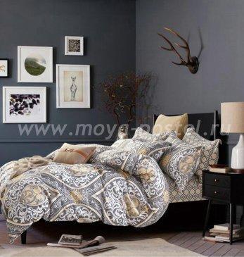 Постельное белье Twill TPIG5-755 семейное (серебряный с золотом узор) в интернет-магазине Моя постель