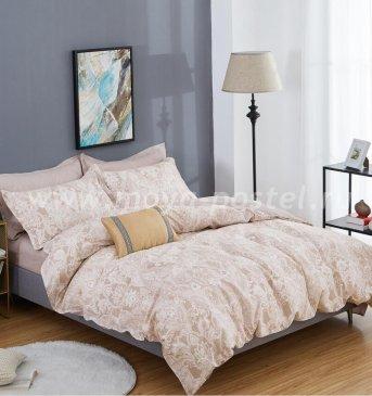 Twill 2 спальный 70*70 (бежевый с белым узором) в интернет-магазине Моя постель
