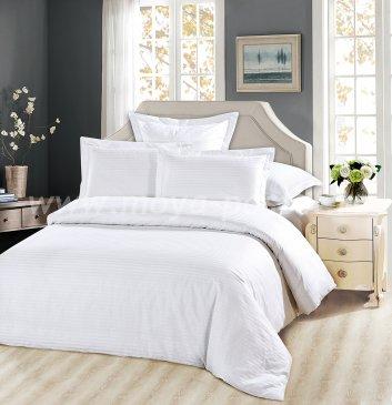 КПБ Tango Страйп-сатин двуспальный, белый в интернет-магазине Моя постель