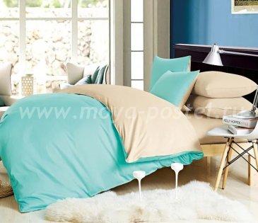 КПБ 1014-JT173 Сатин однотонный евро 2 наволочки в интернет-магазине Моя постель