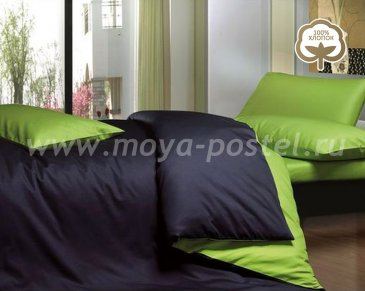 КПБ 1014-JT09 Сатин однотонный евро 2 наволочки в интернет-магазине Моя постель