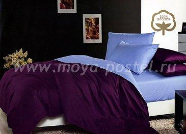 КПБ 1014-JT33 Сатин однотонный евро 2 наволочки в интернет-магазине Моя постель