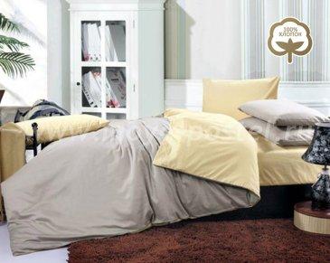 КПБ  1014-JT03 Сатин однотонный евро 2 наволочки в интернет-магазине Моя постель