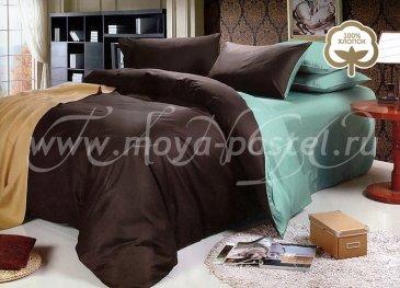 КПБ 1014-JT49 Сатин однотонный евро 2 наволочки в интернет-магазине Моя постель