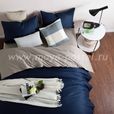 КПБ 1014-JT101 Сатин однотонный евро 2 наволочки в интернет-магазине Моя постель