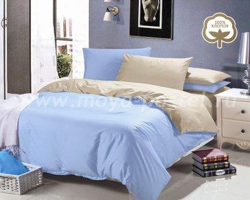 КПБ 1014-JT44 Сатин однотонный евро 2 наволочки в интернет-магазине Моя постель