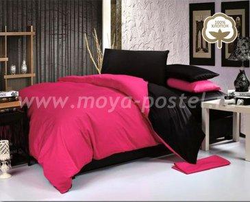 КПБ 1014-JT13 Сатин однотонный евро 2 наволочки в интернет-магазине Моя постель