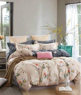 Twill евро 4 наволочки (цветы на бежевом) в интернет-магазине Моя постель
