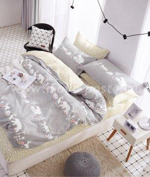 Постельное белье Twill TPIG6-237 евро 4 наволочки (лесные звери) в интернет-магазине Моя постель