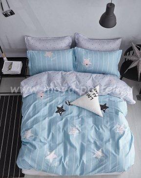 Twill евро 4 наволочки (звезды на голубом) в интернет-магазине Моя постель
