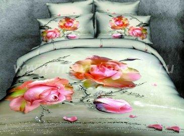 Кпб сатин Евро 2 наволочки (увядающая роза) в интернет-магазине Моя постель
