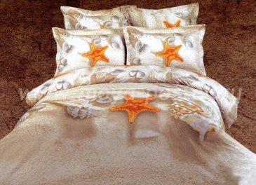 Постельное белье евро стандарта сатин 4 наволочки (морские звезды на песке) в интернет-магазине Моя постель