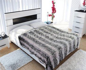 """Меховое покрывало """"Zarina """", евро - интернет-магазин Моя постель"""