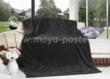 Меховое покрывало Matis DCT634-022 коричневое, евро - интернет-магазин Моя постель