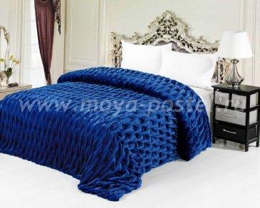 Покрывало Евро Шарпей синий - интернет-магазин Моя постель